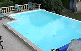 Photos de piscines r alisations carr vert for Piscine liner vert